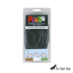 PAWZ Waterproof, Reusable, Disposable Rubber Dog Boots Black