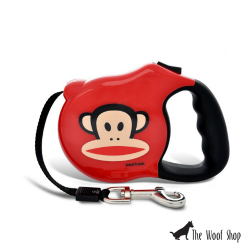 Paul Frank Julius Core Red Retractable Dog Leash