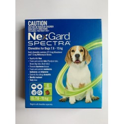 NexGard Spectra Chewables for Dogs 7.6-15kg 6 Chewables