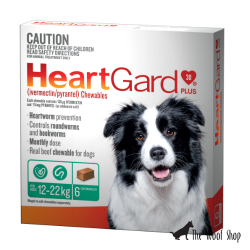 HeartGard Plus Chewables for Dogs 12-22kg Green 6 Tablets