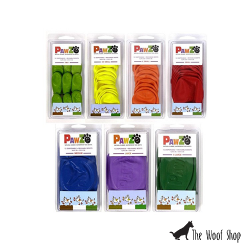 PAWZ Waterproof, Reusable, Disposable Rubber Dog Boots Coloured